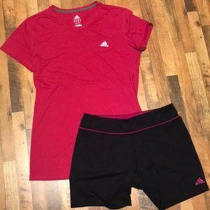 Adidas Athletic Shorts & Shirt (Bin 6)